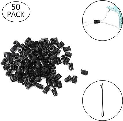 Black, 100Pcs Cord Locks Silicone Toggles for Drawstrings Elastic Cord Adjuster Non Slip Stopper,Round Elastic Adjustment Buckle Soft Plastic Silicone Accessories