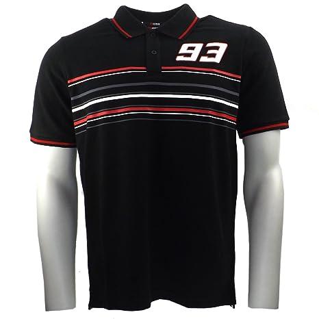 Marc Marquez 93 raya Moto GP Polo camisa negra oficial Nuevo ...