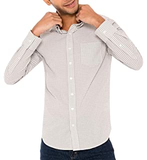 Untucked Dress Shirts for Men Long Sleeve Dry Fit with 4 Way Stretch and Wrinkle-Resistant Fabric