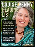 Louise Penny Reading List: Series Reading List Of All Louise Penny Books, complete Reading Order of Chief Inspector Armand Gamache Series (updated 2018) (Reading List Guides)