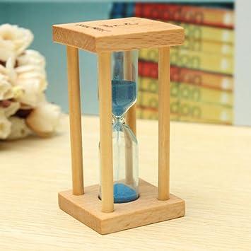 LtrottedJ- Reloj de arena de madera con temporizador, para decoración del hogar, cocina