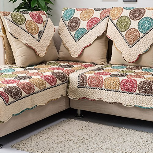 OstepDecor Cotton Non-Slip Quilted Sofa Furniture Protectors With Multi Size Available