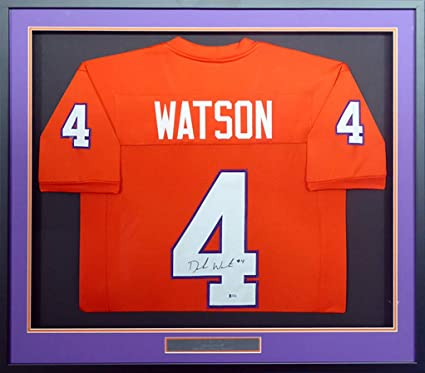 new products e31ec 9efdd Clemson Tigers Deshaun Watson Autographed Framed Orange ...