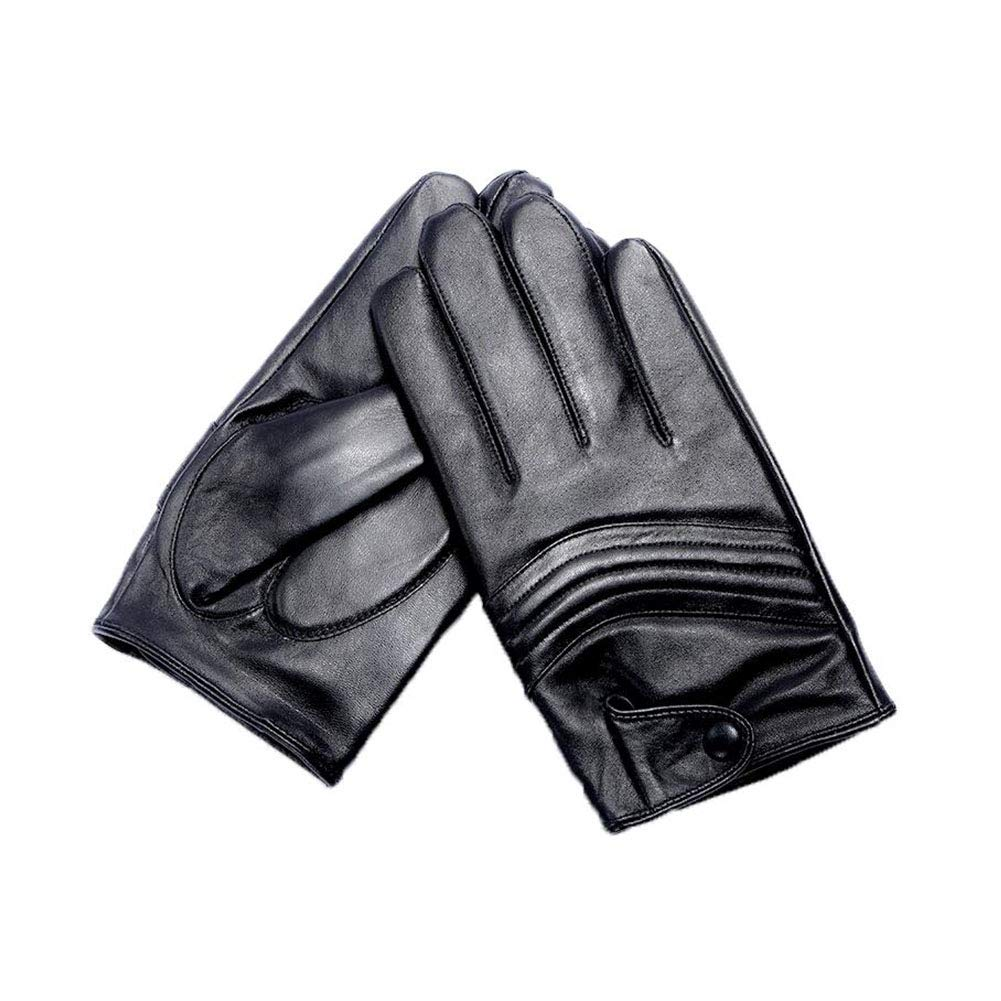 Dall Gloves Gloves Mens Winter Leather Gloves Warm Touchscreen Motorcycle Cycling Color : Black, Size : XXL