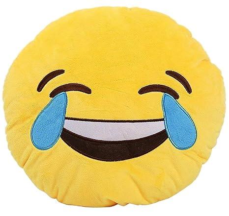 Emmala Suave Emoji Emoticono Sonriente Amarillo Cojín ...