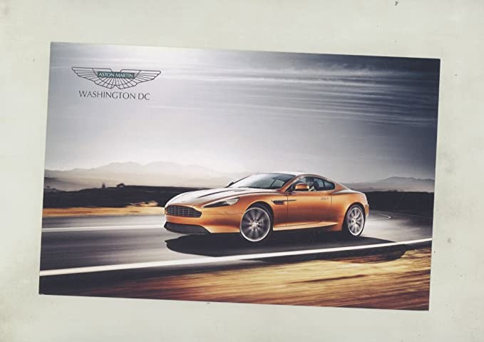 Aston Martin Washington DC Dealer Sales Card Brochure - Aston martin washington dc