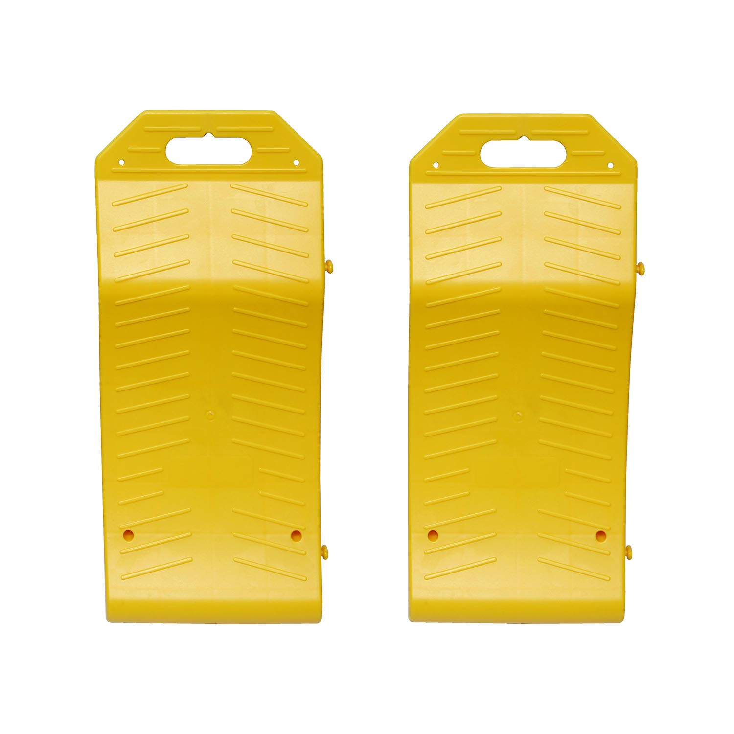 BISupply Tire Saver Ramps - Vehicle Storage Ramp Set Curved Low Profile Ramps Portable Plastic Car Ramps, 2 Pk