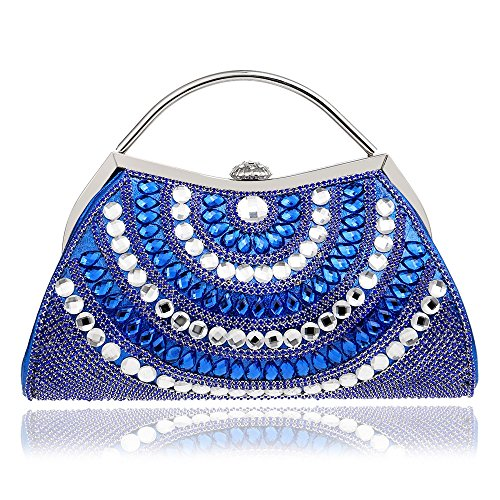 Chain Bag Women Bag Rhinestones Bags Messenger Lady Shoulder blue Purse Evening Evening For Day KYS Clutches Bag Wedding aA8dqwYY