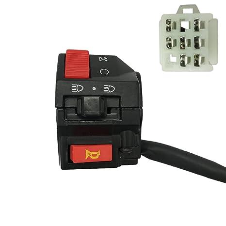 amazon ja all 7 wire lh handlebar starter switch for kazuma 110 Kazuma 110 Engine ja all 7 wire lh handlebar starter switch for kazuma 110 150 falcon atv