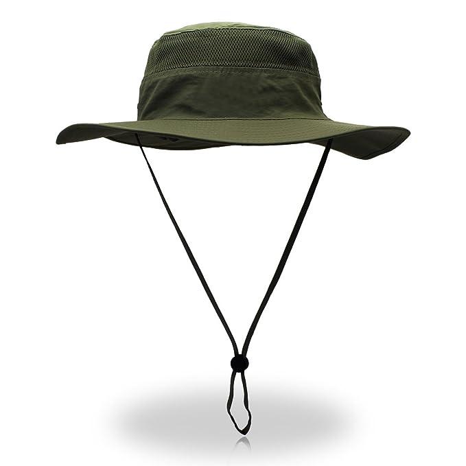 3ba5b2da4 Duakrs Unisex Wide Brim Sun Hat,Outdoor UPF 50+ Waterproof Fishing Hat  Boonie Hat Summer UV Protection Sun Caps
