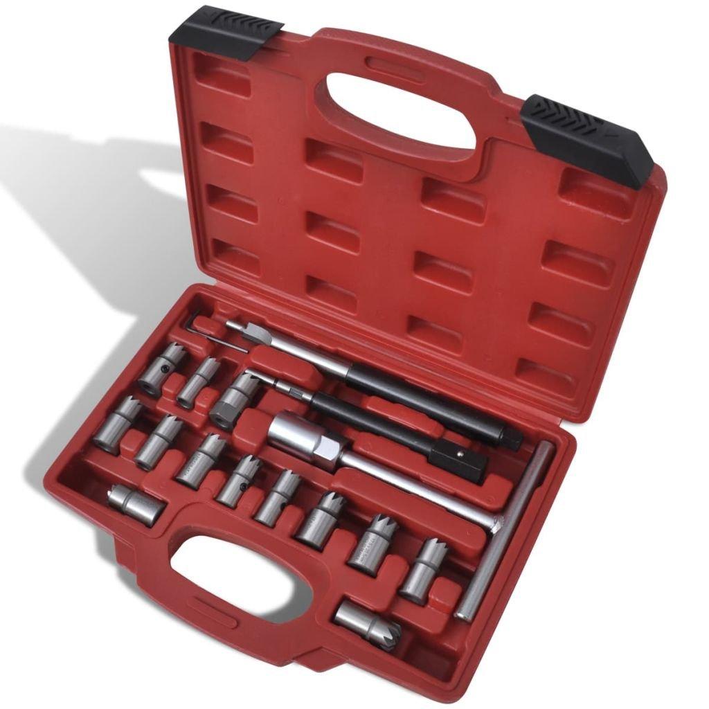 vidaXL Kit rectificateur de siè ge d'injecteur Diesel 17 piè ces
