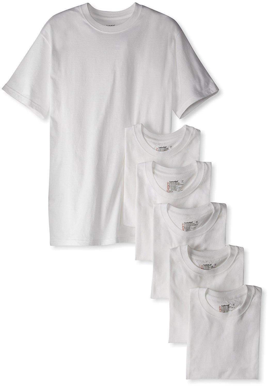 Hanes Men's Classics 6 Pack Crew Neck Tee (5X-Large, White)
