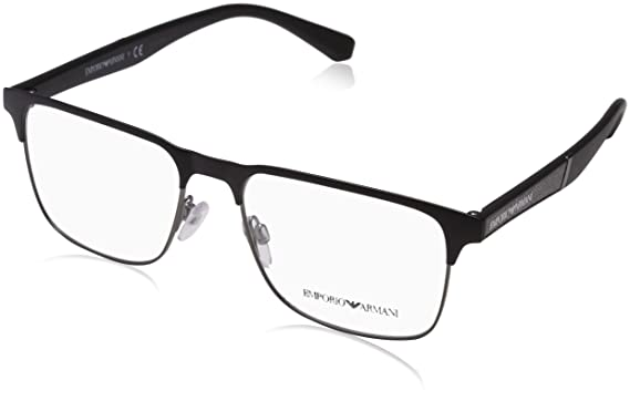 1a62754d4be Image Unavailable. Image not available for. Color  EMPORIO ARMANI  Eyeglasses EA1061 3001 Matte Black Matte Gunmetal