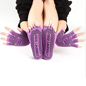 Calcetines Guantes Deportivos Yoga Antideslizantes Mujer Set ...