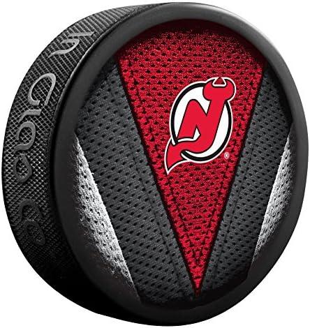 New Jersey Devils Officially Licensed Stitch Design Hockey Puck