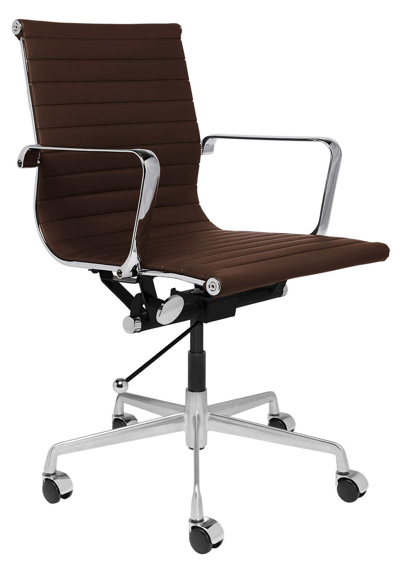 SOHO Ribbed Management Office Chair (Dark Brown) by Laura Davidson Furniture