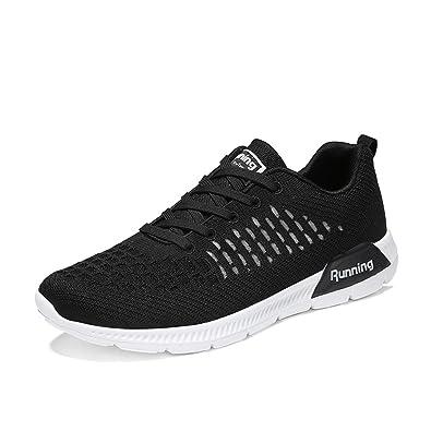 BETY Herren Damen Sportschuhe Laufschuhe mit Luftpolster Turnschuhe Profilsohle Sneakers Leichte Schuhe Gray Pink 36 4UfCzCW