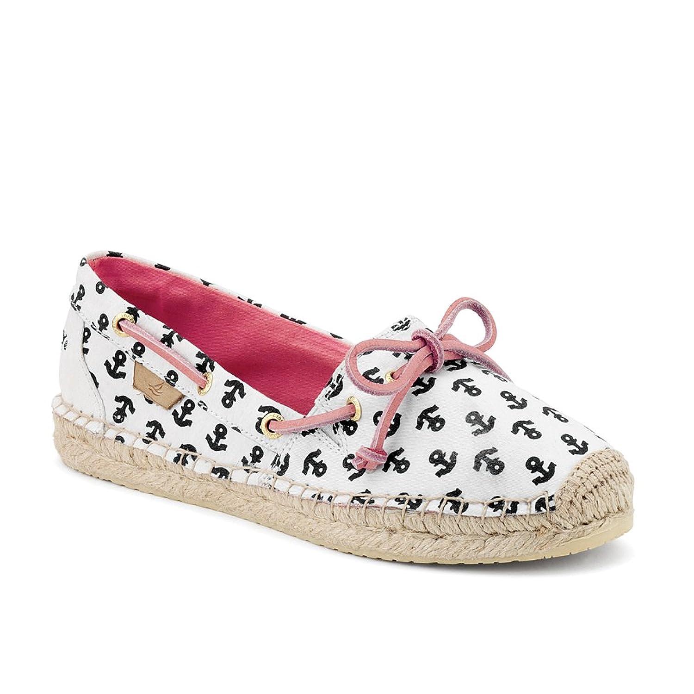 Women's Sperry, Katama Slip-on espadrille Shoe NAVY ANCHORS 9.5 M