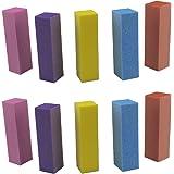 yueton Pack of 10 Buffing Sanding Buffer Block Files Pedicure Manicure Nail Art Tips Tool