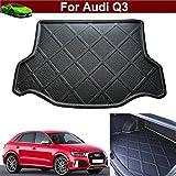 1pcs Black Color Car Boot Pad Carpet Trunk Cargo Liner Floor Mat Molded Cargo Tray Custom Fit For Audi Q3 2007-2018