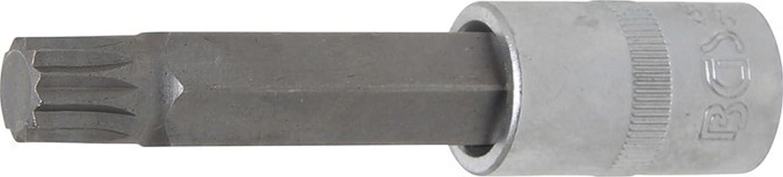 BGS Technic 4364 - Punta de vaso, longitud 100 mm, entrada 12,5 mm (1/2'), dentado mú ltiple interior para XZN, M14 5 mm (1/2) dentado múltiple interior para XZN