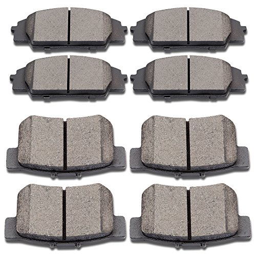 SCITOO Ceramic Disc Brake Pads Set fit 2006 2008 2009 Honda Civic,2000-2009 Honda S2000,2002-2006 Acura RSX,2007-2010 Acura CSX
