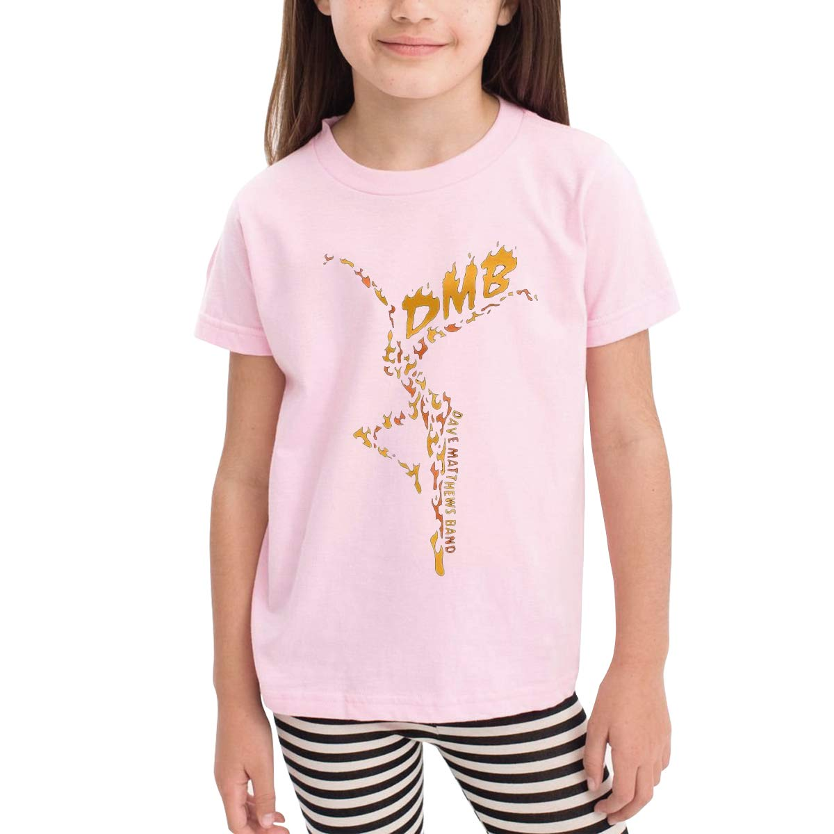 Patricia FordT 6-24 Month Baby T-Shirt Loose Self-Cultivation 2-6 Year Old Childrens T-Shirt Dave Matthews Band Logo Pink 2T