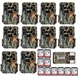 10x Browning Recon Force FHD Extreme Trail/Game Camera with Color Screen (20MP) + 32 GB Card & Focus USB Reader