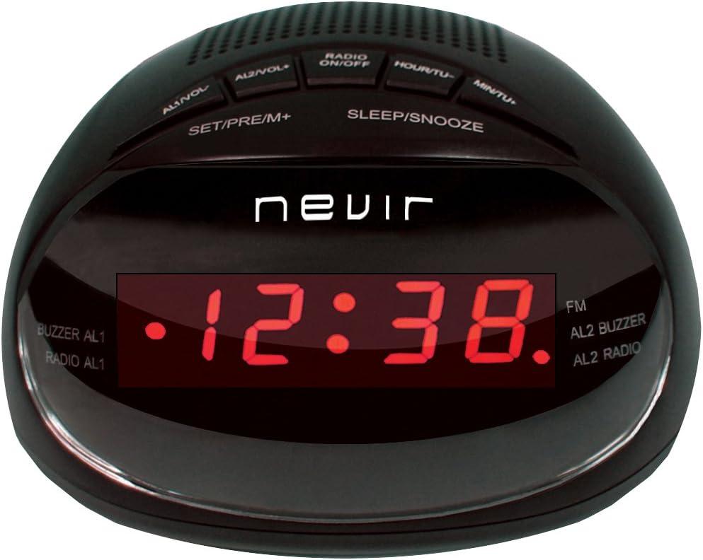 Nevir NVR-333DD - Radiodespertador: BLOCK: Amazon.es: Electrónica