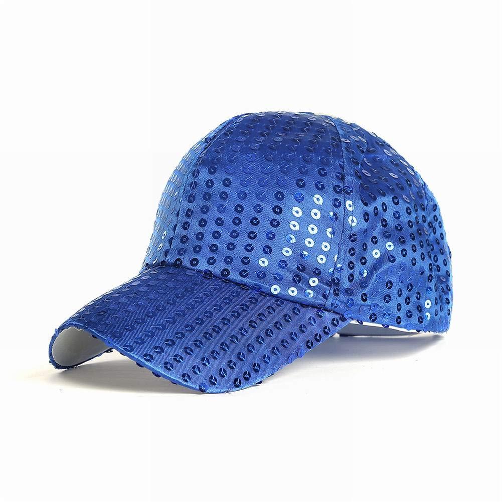 SELUXU Brillo Ajustable Lentejuelas b/éisbol Gorras Sombreros Partido de la Pelota Gorra de Exterior para Mujeres Hombres