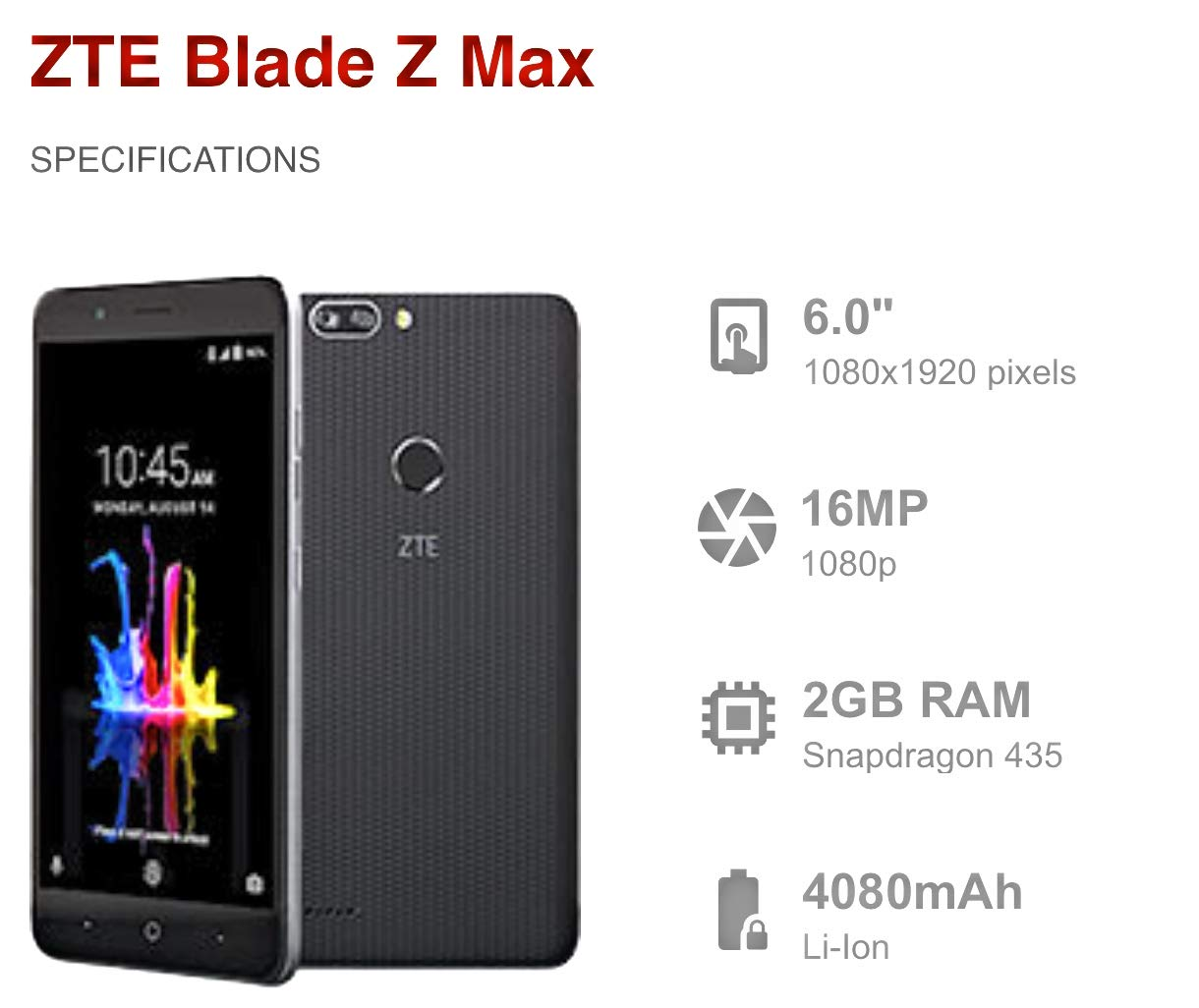 ZTE BLADE Z MAX Z982 4G LTE Metropcs