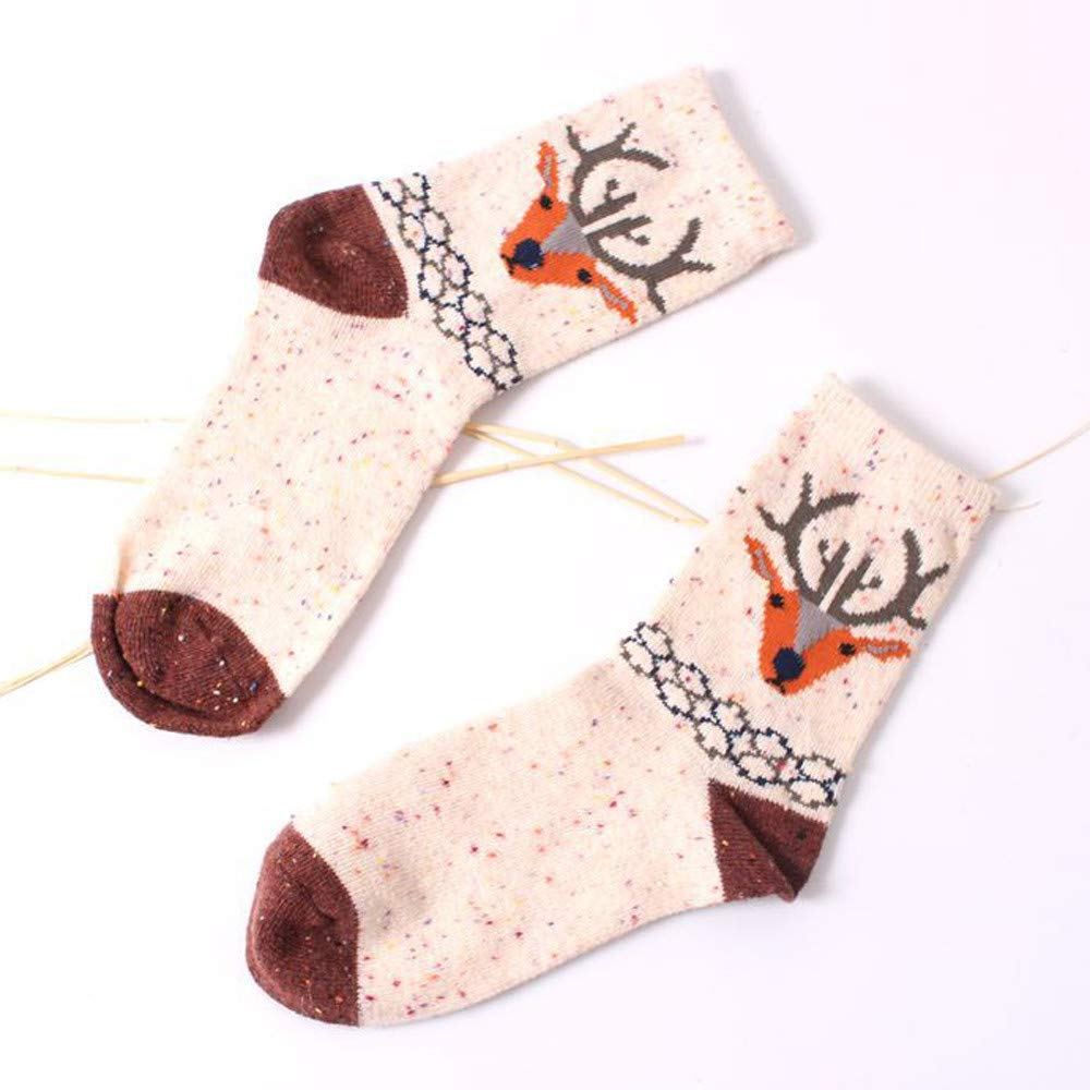 GzxtLTX Socks Wood Cartoon Animal Printed Crew Socks Holiday Design Soft Fun Colorful Festive Fancy Christmas Gifts