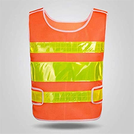 HDFG Rinhyi Chaleco Reflectante de Seguridad Unisex para Correr, Correr, Andar en Bicicleta, Equipo Reflectante (4 Colores) (Color : Orange): Amazon.es: Hogar