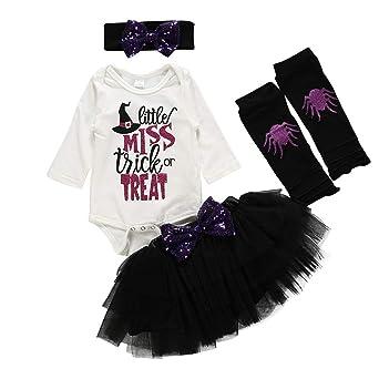 Bebe Niña Halloween 4Pcs Bebé Niños Niñas Disfraces Ropa Mono de ...