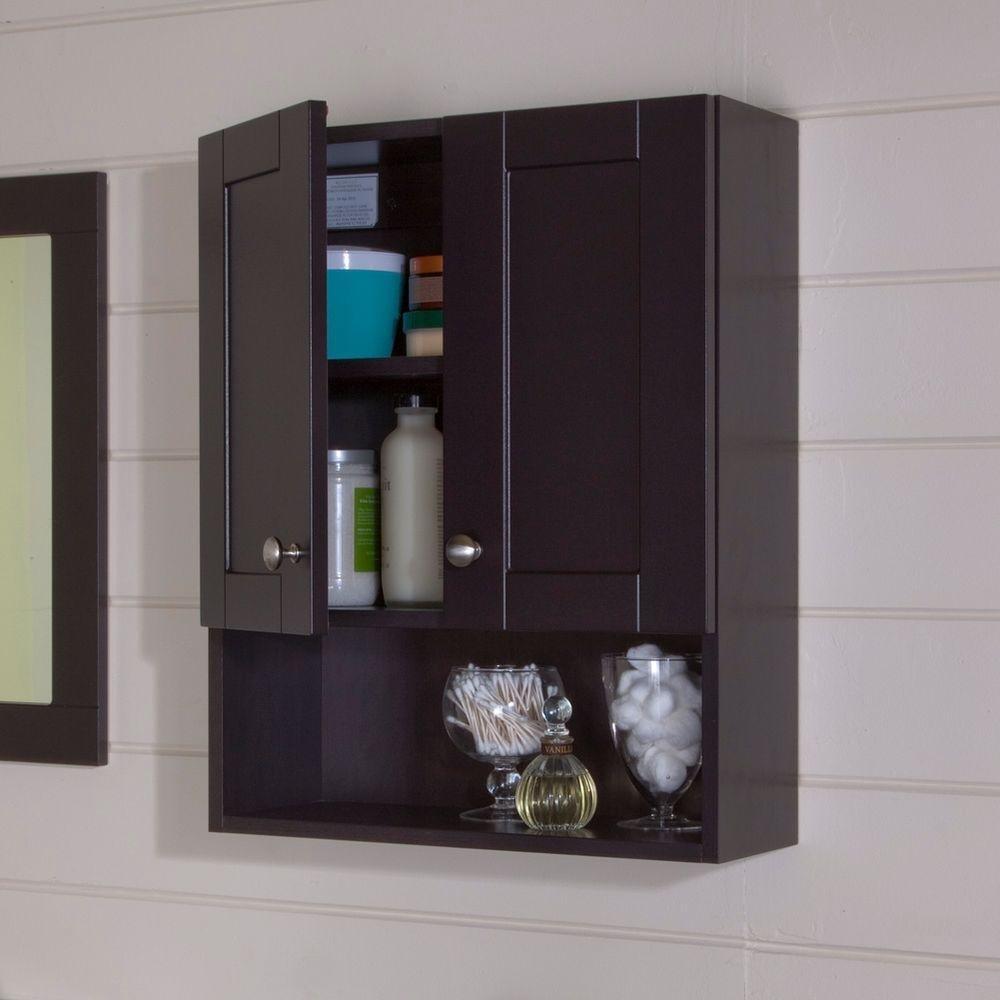 Amazon.com: Glacier Bay Over Toilet Storage Cabinet In Espresso: Home U0026  Kitchen