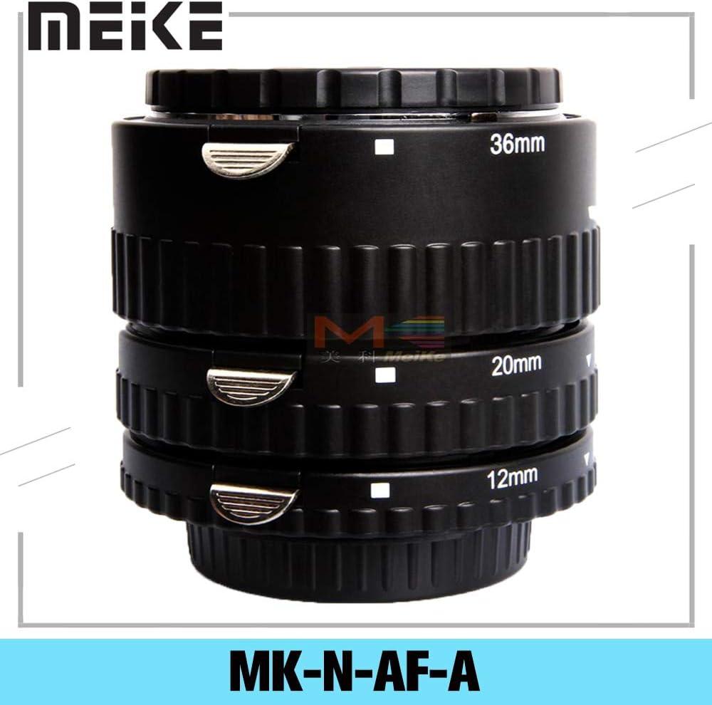 Lens Adapter - Meike MK-N-AF-A Metal Auto Focus AF Macro Extension Tube Set 12 20 36mm Adapter Ring For for Nikon Digital SLR Camera Lens