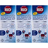 RID Essentials Lice Elimination Kit (Pack of 3)
