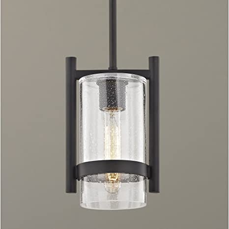 """Gunmetal Grey And Translucent Outer Glass Pendant Light 7/"""""""