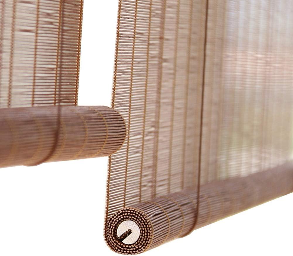 Persiana Enrollable Sombra de Rodillo Exterior Marrón, Persianas Enrollables Para Cortinas Patio Porche Exterior para La Pérgola del Gazebo del Patio Trasero de La Cubierta, 85cm / 105cm / 125cm / 145: Amazon.es: Hogar