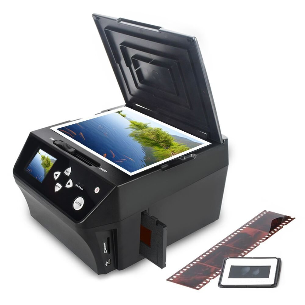 DIGITNOW Photo Scanner Film & Slide Multi-Function Scanner with HD 22MP, Convert 135Film/35mm slide/110Film/Photo/Document/Business Card to Digital JPG Files,Includes 8GB Memory Card! BR