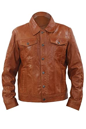 Veste trucker marron