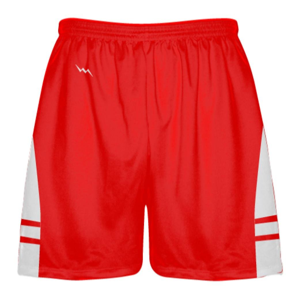 Vegas Gold Boys Mens Shorts Youth Youth Red White Pockets Lacrosse Shorts