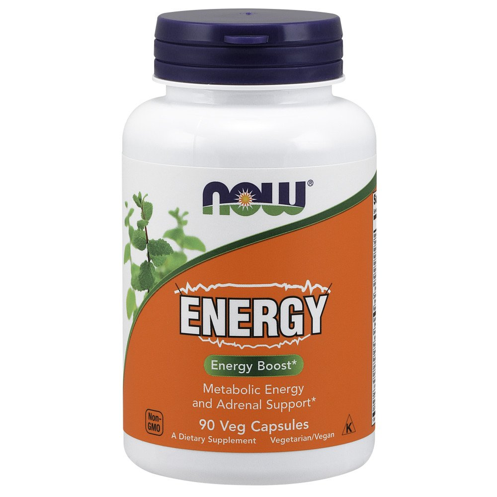 NOW Supplements, Energy Dietary Supplement (lncludes B Vitamins, Green Tea, Panax Ginseng and Rhodiola), 90 Capsules by NOW