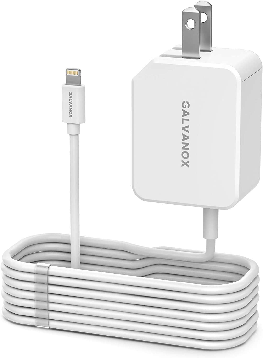 (MFi Apple Certified) Galvanox 1-PC Lightning Fast iPhone Wall Charger (20W Power Delivery Technology)