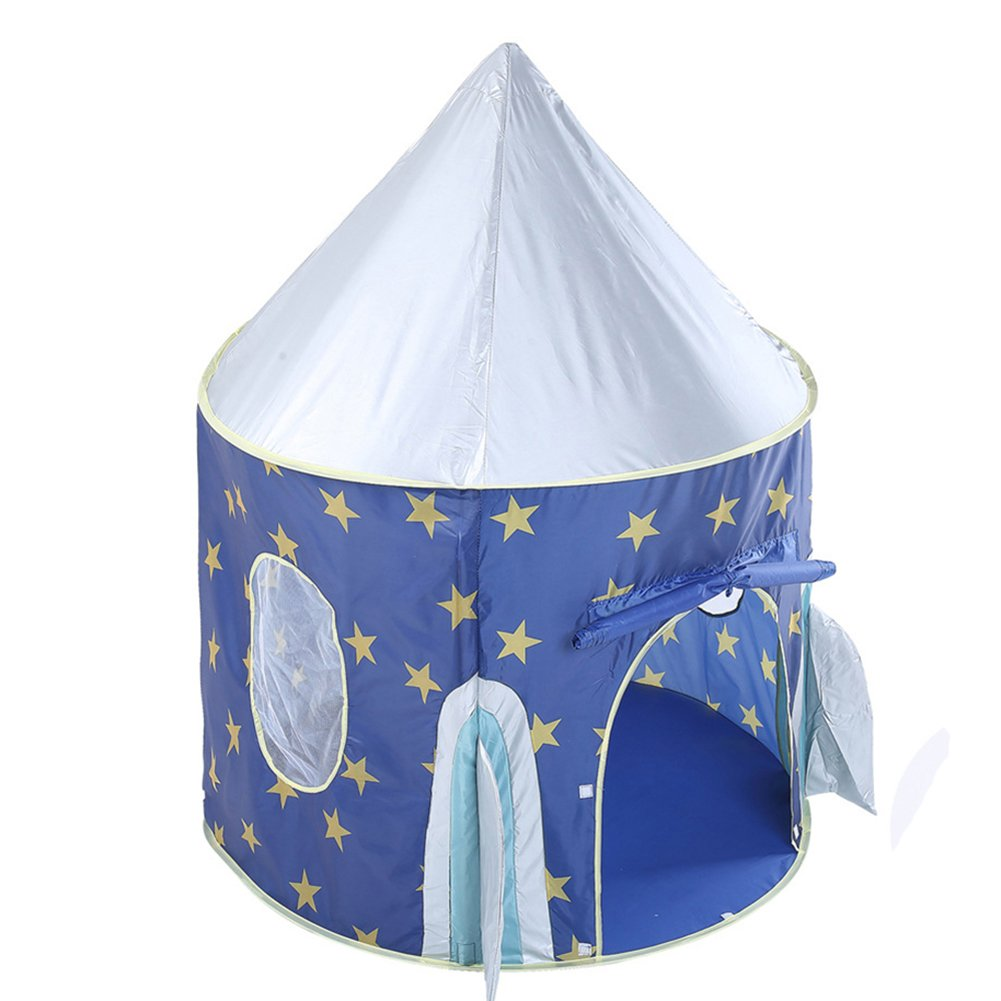 Waliga Play Tent For Kids Castle Playhouse Popup Tent Gift To Crawl for Boys and Girls Promotes Early Learning, Social Bonding, Imagination Building and Roleplay Easy Setup