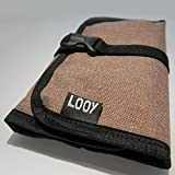 Looy Electronics Travel Organizer Roll Up Bag for