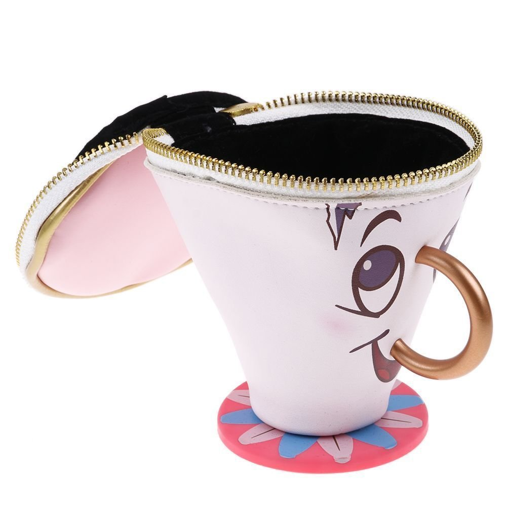 Sac à main 3D en forme de Zip la tasse personnage de la Belle et la Bête Princesses