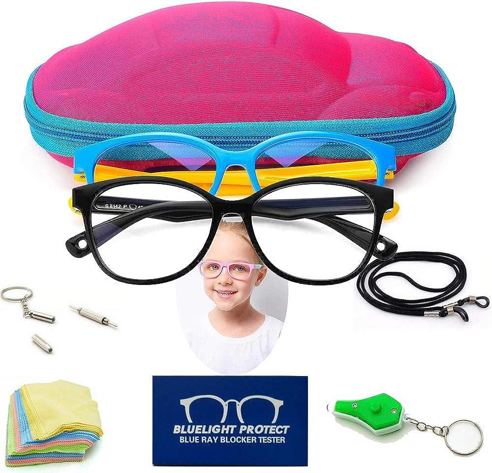 UV-Schutz f/ür die Verwendung von Handys LINPING 2 St/ück Blaulicht-blockierende Brille f/ür Kinder M/ädchen und Jungen blendfrei Tablets Videospielen TV
