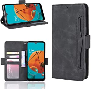 iPod Touch 7 Leather Wallet Case, iPod Touch 6 Card Holder Case, iPod Touch 5 Wallet Case, Futanwei [Flip Folio] Premium PU Leather Cover Stylish Business Wallet Case for iPod Touch 5/6/7 Black