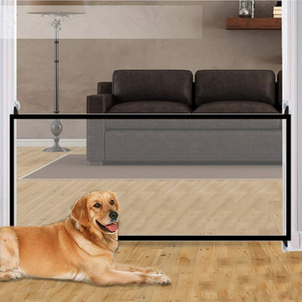 Magic Gate,70.9''x28.3'' Portable Folding Pet Gate Mesh Magic Gate for Dogs,Baby Safety Fence,mesh gate Isolated Gauze Indoor and Outdoor Safety Gate Install Anywhere